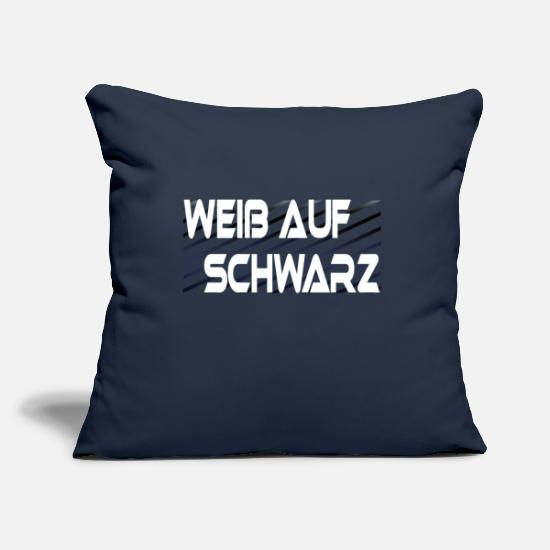 Paradox Pillow Cases - White on black funny saying paradox - Pillowcase 17,3'' x 17,3'' (45 x 45 cm) navy