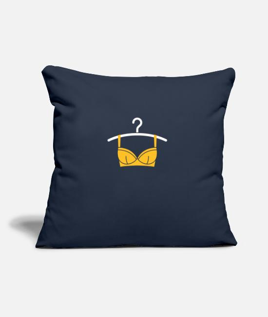 Sexual Pillow Cases - Women's Lingerie On A Hanger - Pillowcase 17,3'' x 17,3'' (45 x 45 cm) navy