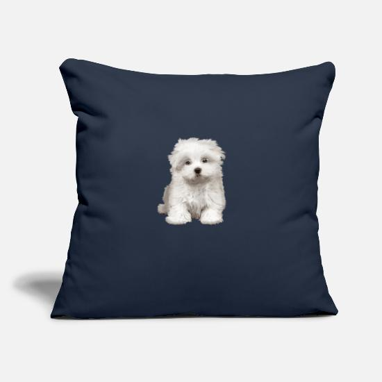 De Pillow Cases - Puppy - Pillowcase 17,3'' x 17,3'' (45 x 45 cm) navy