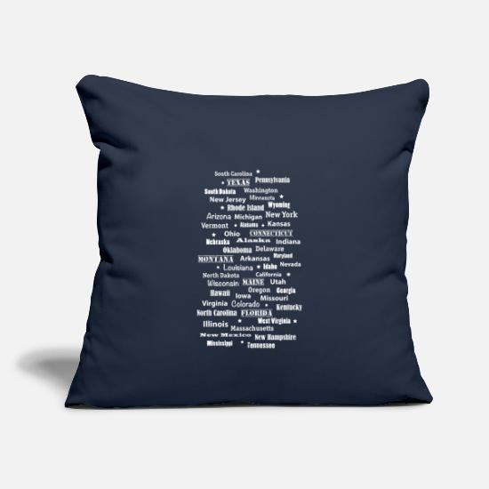 Usa Pillow Cases - United States of America United States of America states - Pillowcase 17,3'' x 17,3'' (45 x 45 cm) navy
