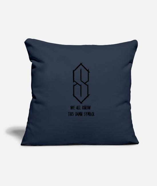 School Pillow Cases - WE ALL KNOW! The symbol of school time - Pillowcase 17,3'' x 17,3'' (45 x 45 cm) navy