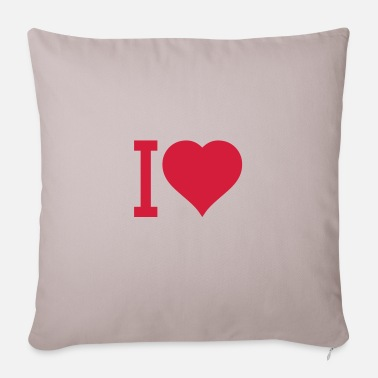 I Heart i heart - Pillowcase 17,3'' x 17,3'' (45 x 45 cm)