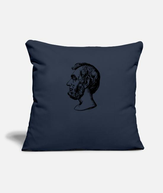 Drawing Pillow Cases - Abraham Lincoln - Pillowcase 17,3'' x 17,3'' (45 x 45 cm) navy