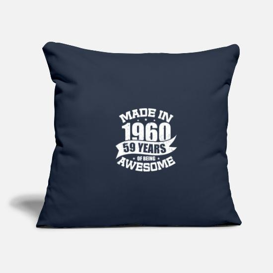 Birthday Pillow Cases - MADE IN 1960 - Pillowcase 17,3'' x 17,3'' (45 x 45 cm) navy