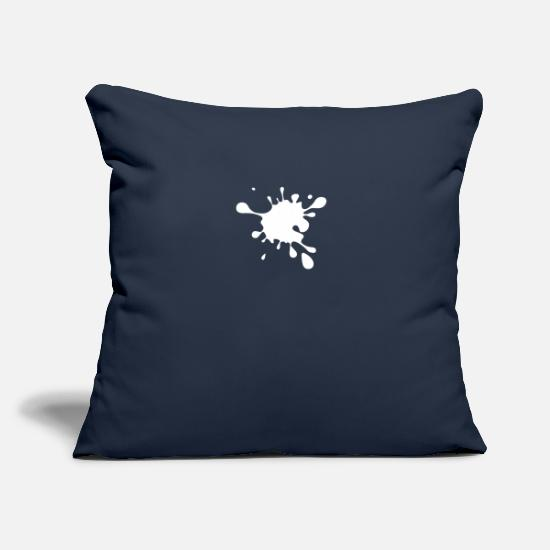 Art Pillow Cases - Splash BLOB Simmental paint dirty dirt - Pillowcase 17,3'' x 17,3'' (45 x 45 cm) navy