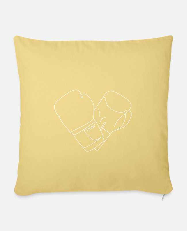 Line Pillow Cases - Boxing Gloves - Pillowcase 17,3'' x 17,3'' (45 x 45 cm) washed yellow