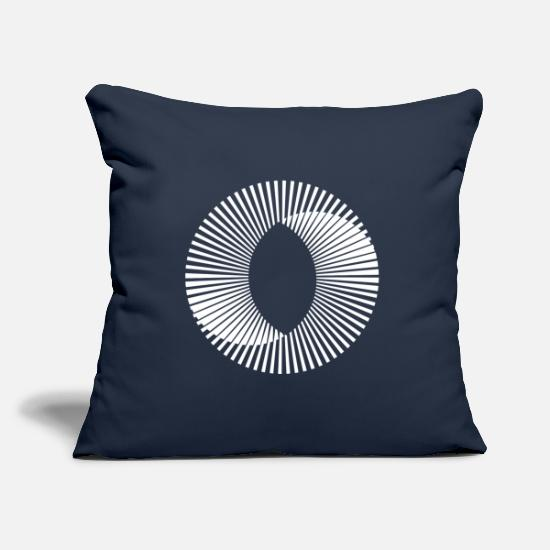 Love Pillow Cases - Illusion No 16 knows - Pillowcase 17,3'' x 17,3'' (45 x 45 cm) navy
