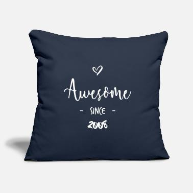 Since Awesome since 2008 - Housse de coussin décorative 44 x 44 cm