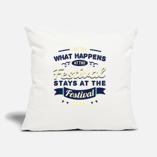 Festival Pillow Cases - Festival Gift Party Celebrate Music Open Air - Pillowcase 17,3'' x 17,3'' (45 x 45 cm) natural white