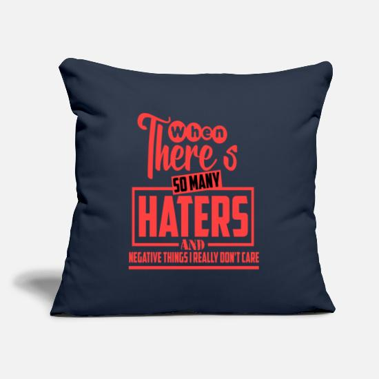 Jealous Pillow Cases - Haters hate Eiversüchtig saying - Pillowcase 17,3'' x 17,3'' (45 x 45 cm) navy
