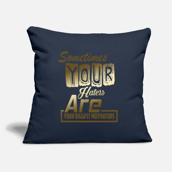 Modern Pillow Cases - Haters hate Eiversüchtig saying - Pillowcase 17,3'' x 17,3'' (45 x 45 cm) navy