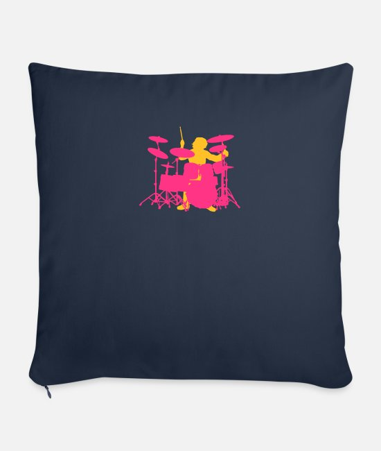 Drummer Pillow Cases - Drums - Pillowcase 17,3'' x 17,3'' (45 x 45 cm) navy
