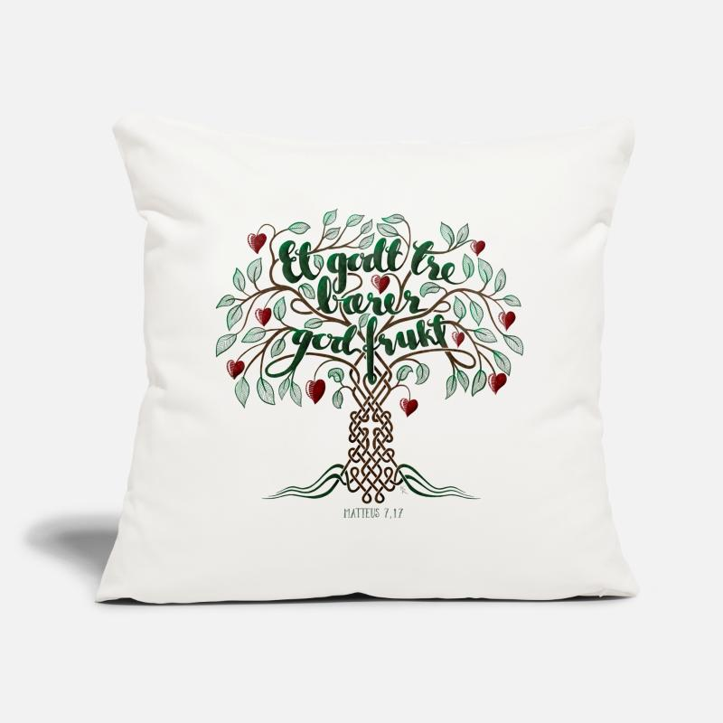 Jesus Pillow cases - A good tree carries good fruit - Pillowcase 17,3'' x 17,3'' (45 x 45 cm) natural white