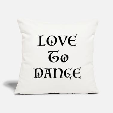 Love To Dance With Female Silhouettes - Pillowcase 17,3'' x 17,3'' (45 x 45 cm)