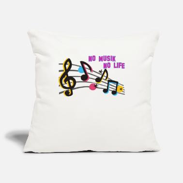 Musical symbols - Sofa pillowcase 17,3'' x 17,3'' (45 x 45 cm)