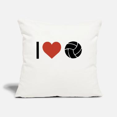 Sports I heart volleyball sport - Sofa pillowcase 17,3'' x 17,3'' (45 x 45 cm)
