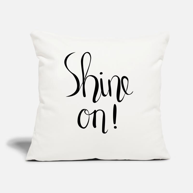 Bestseller Pillow cases - Shine On! Hand Lettered Print - Pillow Case natural white
