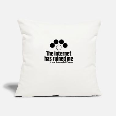 Officialbrands The Internet has ruined me t-shirt - Sofa pillowcase 17,3'' x 17,3'' (45 x 45 cm)