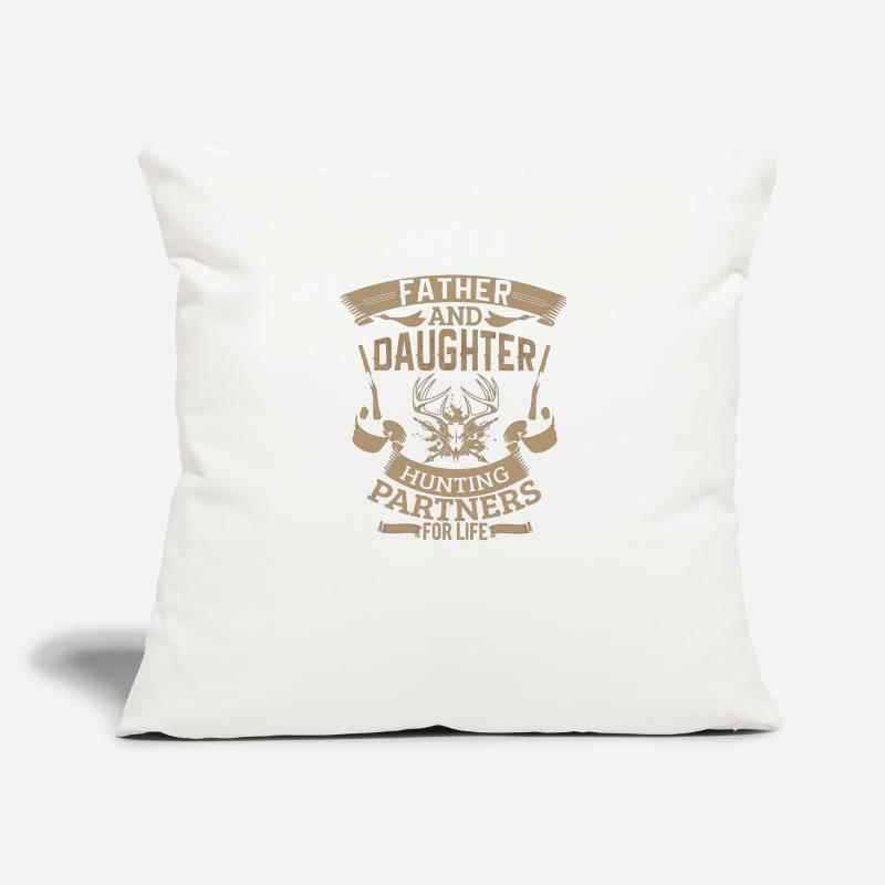 d4e34bdb Father and daughter hunting partners for life Pillow Case   Spreadshirt