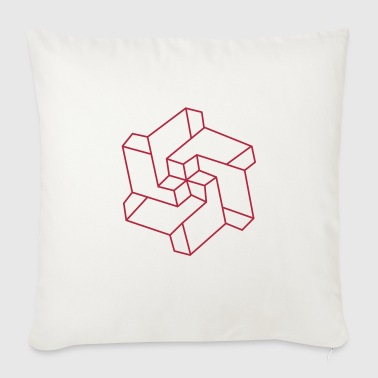 Optical illusion - Chakra symbol - Geometry Art - Sofa pillow cover 44 x 44 cm