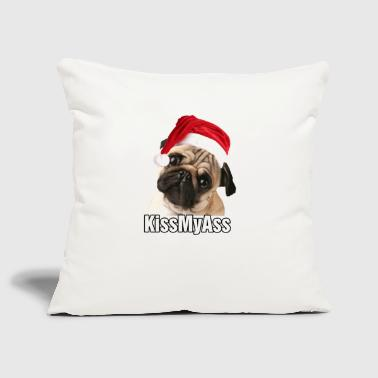 Christmas kiss my ass - Sofa pillow cover 44 x 44 cm
