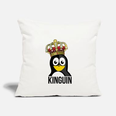 Kungarike Kinguin Penguin Royal Crown Slotts - Soffkuddsöverdrag, 44 x 44 cm
