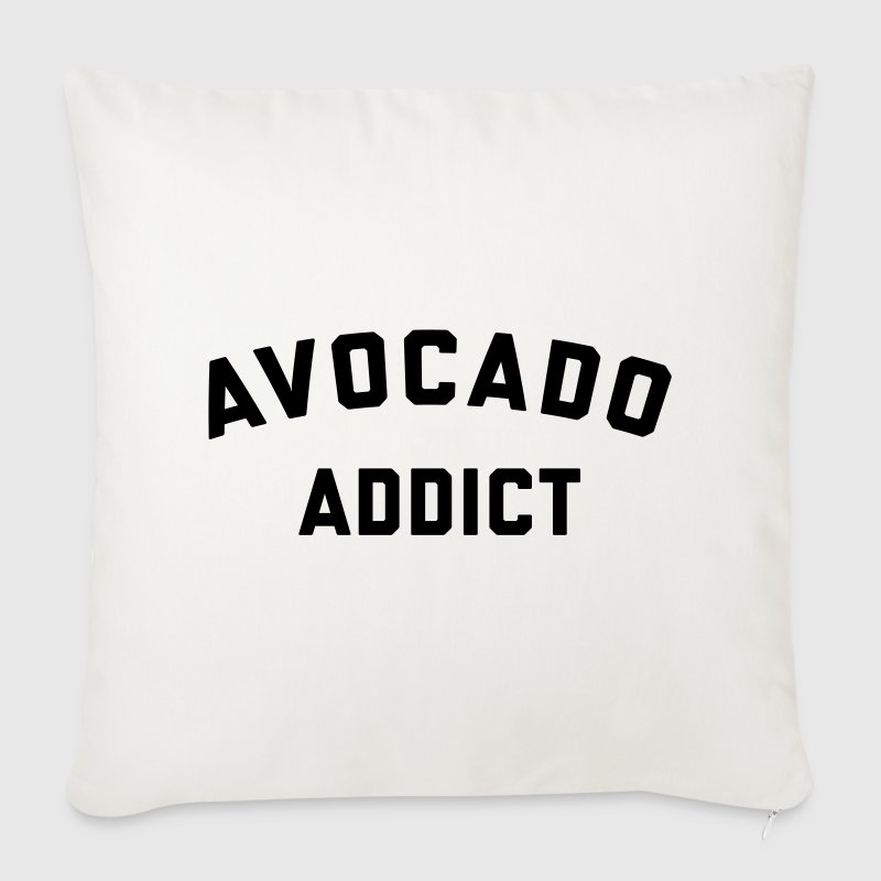 Avocado Addict Funny Quote - Sofa pillow cover 44 x 44 cm