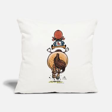 Thelwell Funny Riding Beginner Illustration - Pillowcase 17,3'' x 17,3'' (45 x 45 cm)
