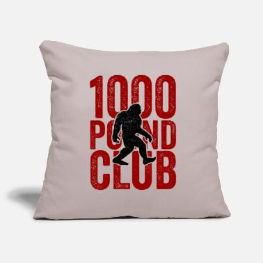 1000 Club TShirt da 1000 pound club, Sasquatch Powerlifter - Copricuscino