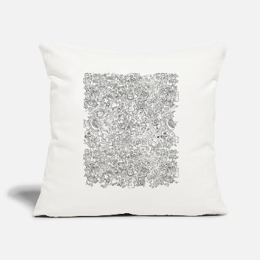 I can not stop this insane doodling - Sofa pillow cover 44 x 44 cm