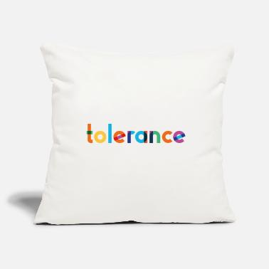 Tolerance - Rainbow Typography - Pillowcase 17,3'' x 17,3'' (45 x 45 cm)