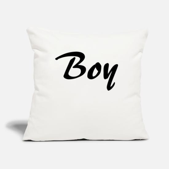 Bride Pillow Cases - boy - Pillowcase 17,3'' x 17,3'' (45 x 45 cm) natural white