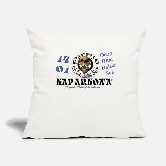Skull And Bones Pillow Cases - Cape Arkona pirate motif - Pillowcase 17,3'' x 17,3'' (45 x 45 cm) natural white