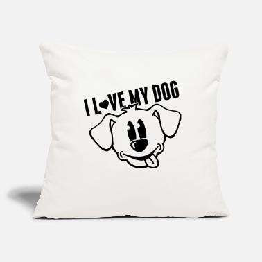 Langue Bouche i_love_my_dog_to1 - Housse de coussin