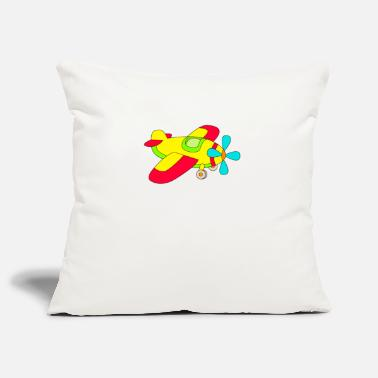 Propeller propeller plane - Pillowcase 17,3'' x 17,3'' (45 x 45 cm)