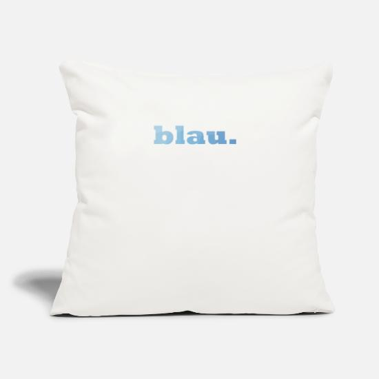 Stylish Pillow Cases - blue. - Pillowcase 17,3'' x 17,3'' (45 x 45 cm) natural white