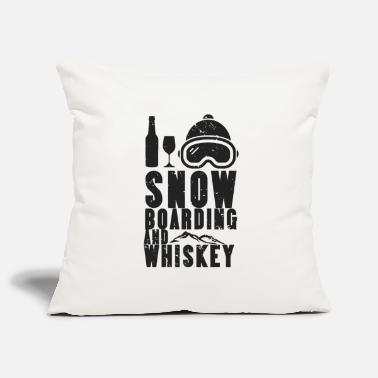 Winter Snowboard Winter Sport Boarding Snow Whiskey - Pillowcase 17,3'' x 17,3'' (45 x 45 cm)
