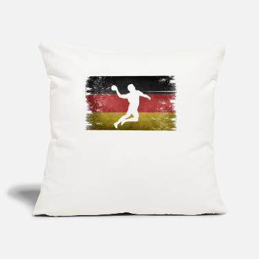 Tain Handball player Germany retro flag - Pillowcase 17,3'' x 17,3'' (45 x 45 cm)