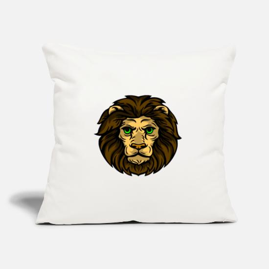 With Pillow Cases - sweet lion for children with mane - Pillowcase 17,3'' x 17,3'' (45 x 45 cm) natural white