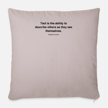 Tact HQ Tact is the abil black da7d947e708b4075c55fcc80 - Pillowcase 17,3'' x 17,3'' (45 x 45 cm)