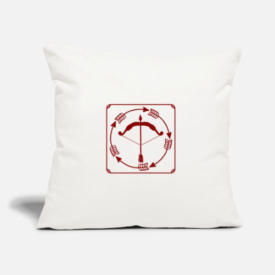 Gift Idea Pillow Cases - Bow and arrow - bow and arrow - Pillowcase 17,3'' x 17,3'' (45 x 45 cm) natural white