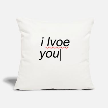 Text I love you funny mistake - Pillowcase 17,3'' x 17,3'' (45 x 45 cm)