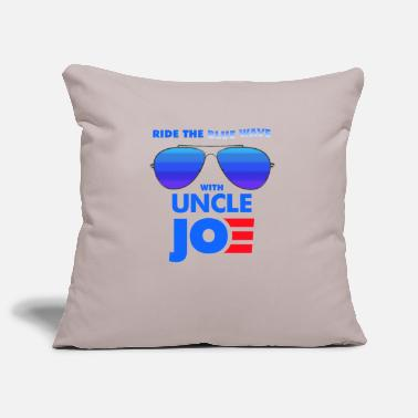 Womens Ride the Blue Wave with Uncle Joe Biden - Pillowcase 17,3'' x 17,3'' (45 x 45 cm)