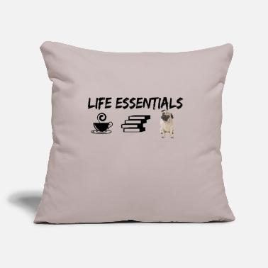 Best Friends Quotes Life Essentials - Dogs Coffee and Books - Kissenhülle