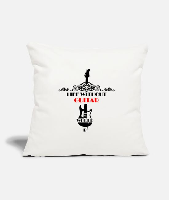 Play Pillow Cases - Life without guitar would be ... - Pillowcase 17,3'' x 17,3'' (45 x 45 cm) natural white