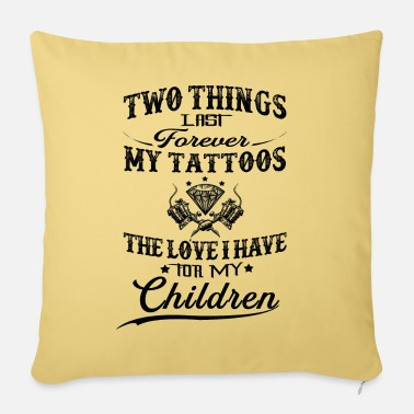 Bowling Thing Last Forever My Tattoos Love For My Children - Pillowcase 17,3'' x 17,3'' (45 x 45 cm)