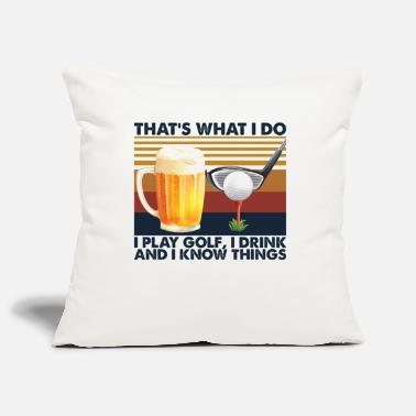 Tea That's What I Do I Play Golf I Drink Vintage - Pillowcase 17,3'' x 17,3'' (45 x 45 cm)