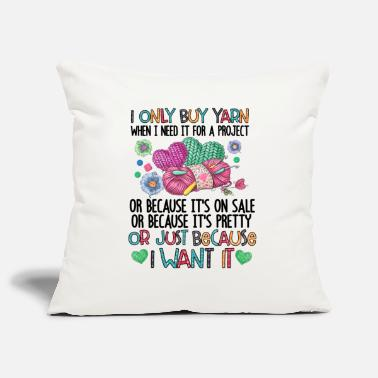 Toxic I Only Buy Yarn Funny Yarnaholic Gift - Pillowcase 17,3'' x 17,3'' (45 x 45 cm)