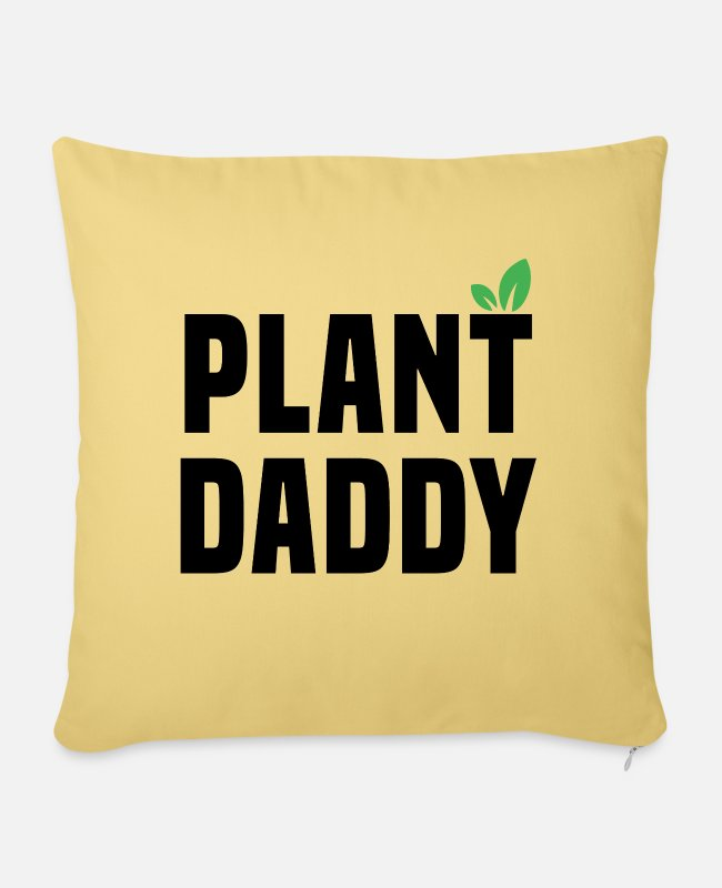 Nature Pillow Cases - PLANT DADDY - Pillowcase 17,3'' x 17,3'' (45 x 45 cm) washed yellow