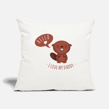 Papa I love my daddy- gift birth dad father - Pillowcase 17,3'' x 17,3'' (45 x 45 cm)